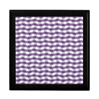 Modelo ondulado púrpura de las rayas cajas de recuerdo