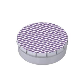 Modelo ondulado púrpura de las rayas jarrones de dulces