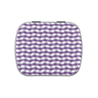 Modelo ondulado púrpura de las rayas frascos de dulces