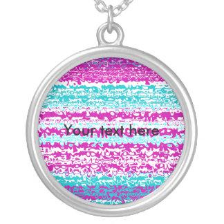 Modelo ondulado rosado y azul psicodélico colgante redondo