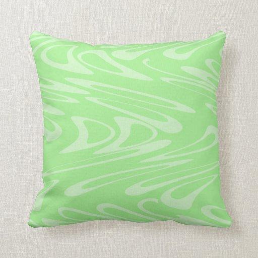 Modelo ondulado verde cojin