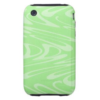 Modelo ondulado verde iPhone 3 tough protectores