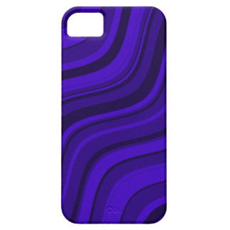 Modelo ondulado violeta de las rayas de la marina funda para iPhone 5 barely there