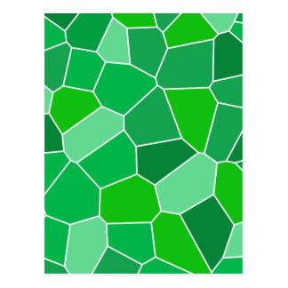 Modelo orgánico moderno fresco tarjetas postales