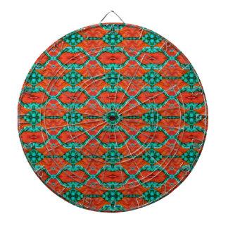 Modelo oriental de la manta del naranja y del trul tablero dardos