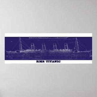Modelo original titánico del RMS, aumentado para e Póster