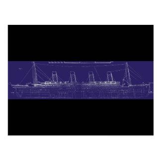Modelo original titánico del RMS, aumentado para Postales