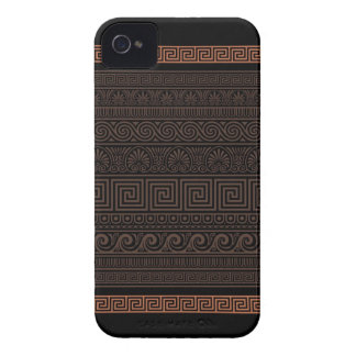 Modelo ornamental griego iPhone 4 Case-Mate protectores