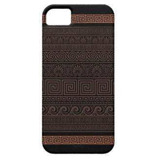Modelo ornamental griego iPhone 5 carcasas