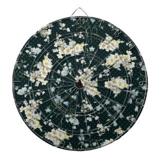 Modelo oscuro del papel pintado de la flor del vin tabla dardos
