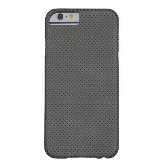 Modelo oscuro poroso del metal funda para iPhone 6 barely there