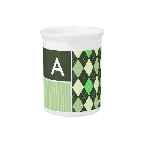 Modelo oscuro y verde claro de Argyle Jarrones