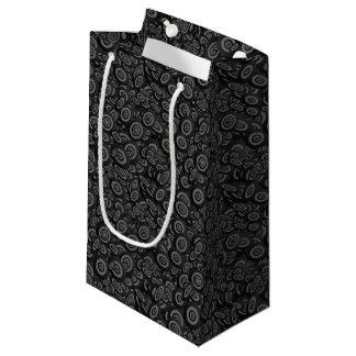Modelo oval retro negro del círculo bolsa de regalo pequeña