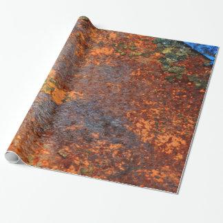 Modelo oxidado retro de la textura del Grunge Papel De Regalo