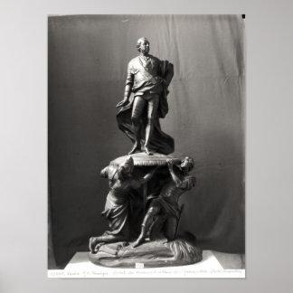 Modelo para el monumento de Louis XV Poster