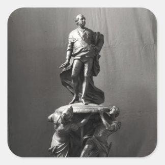 Modelo para el monumento de Louis XV Calcomania Cuadradas Personalizada