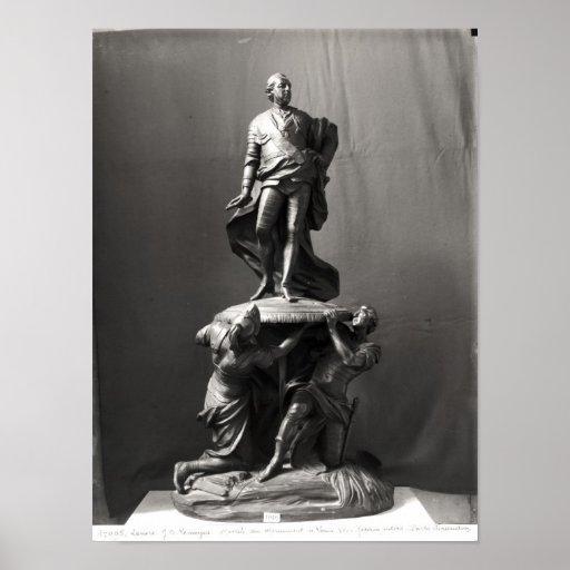 Modelo para el monumento de Louis XV Póster