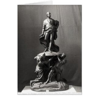 Modelo para el monumento de Louis XV Tarjetón