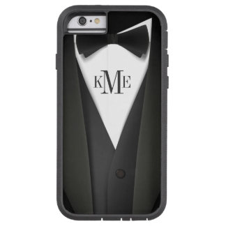 Modelo para hombre del smoking - monograma único funda para  iPhone 6 tough xtreme