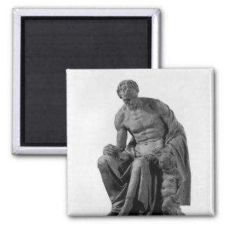 Modelo para un monumento a Jean-Jacques Rousseau Imán Cuadrado