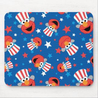 Modelo patriótico de Elmo Mouse Pad