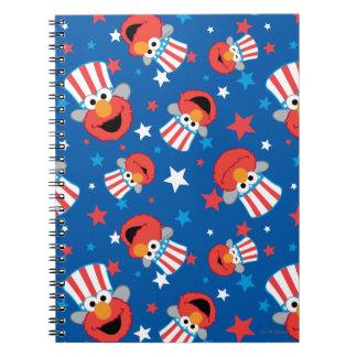 Modelo patriótico de Elmo Note Book
