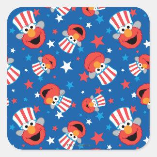 Modelo patriótico de Elmo Pegatina Cuadrada