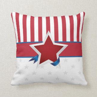 Modelo patriótico de las barras y estrellas cojín