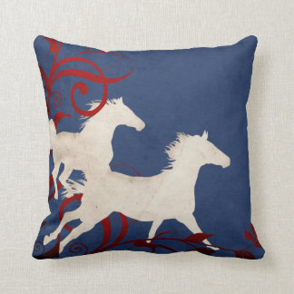 Modelo patriótico de los caballos que trotan