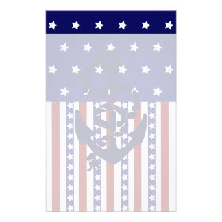 Modelo patriótico del marinero del ancla de las papeleria