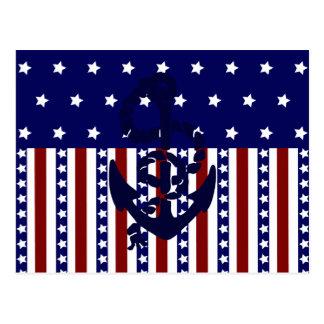 Modelo patriótico del marinero del ancla de las ra