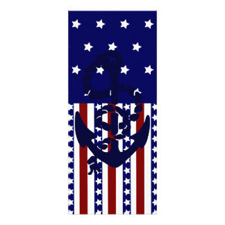 Modelo patriótico del marinero del ancla de las ra invitacion personalizada