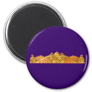 Modelo pattern broche brooch de oro imán redondo 5 cm