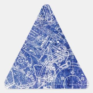 Modelo Pegatina Triangular