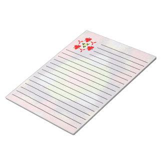 Modelo peludo abstracto colorido del cepillo libreta para notas