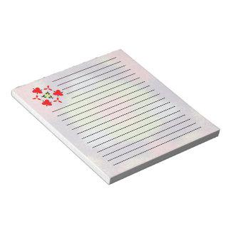 Modelo peludo abstracto colorido del cepillo libretas para notas