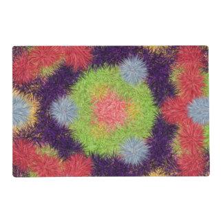 Modelo peludo abstracto colorido del cepillo tapete individual