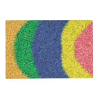 Modelo peludo abstracto colorido salvamanteles