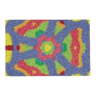 Modelo peludo colorido tapete individual