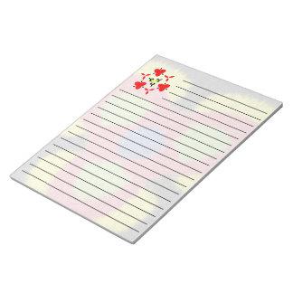 Modelo peludo moderno del cepillo bloc de notas