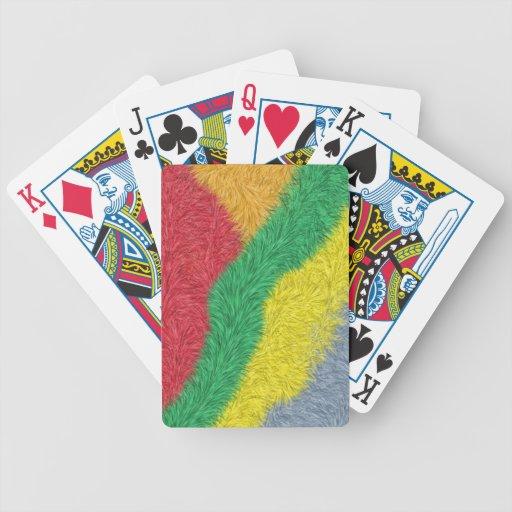 Modelo peludo multicolor moderno baraja cartas de poker