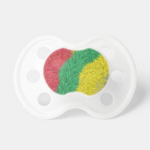 Modelo peludo multicolor moderno chupetes de bebé