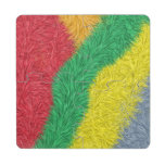 Modelo peludo multicolor moderno posavasos de puzzle