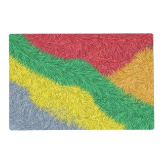 Modelo peludo multicolor moderno salvamanteles