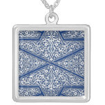 Modelo persa de la teja - azul y blanco de cobalto colgante