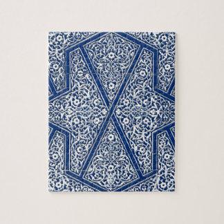 Modelo persa de la teja - azul y blanco de cobalto puzzle