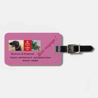 Modelo personalizado de los perros y de los gatos. etiquetas para equipaje