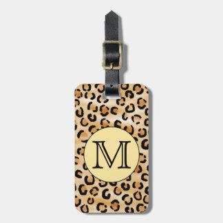 Modelo personalizado del estampado leopardo del mo etiqueta de equipaje