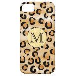 Modelo personalizado del estampado leopardo del mo iPhone 5 Case-Mate coberturas