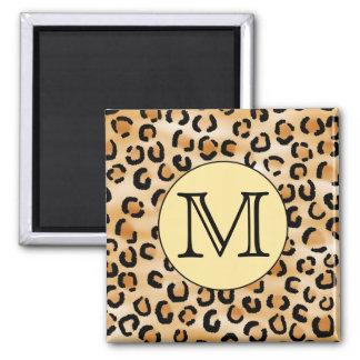 Modelo personalizado del estampado leopardo del mo iman para frigorífico